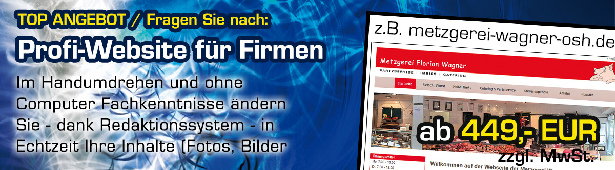 Firmenwebsite Angebot